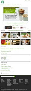 Starbucks.com homepage - iPad